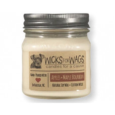 Wicks for Wags Apples +Maple Bourbon candle