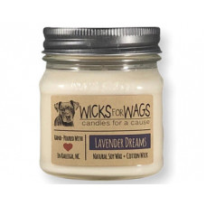 Wicks for Wags Lavender Dreams candle