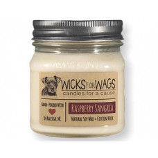 Wicks for Wags Raspberry Sangria candle