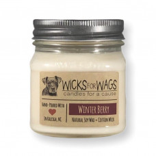 Wicks for Wags Winterberry candle