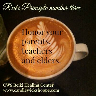 Reiki Principle Number Three.